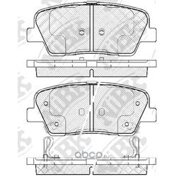 Колодки тормозные дисковые (NiBK) PN0415