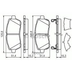 Комплект тормозных колодок, дисковый тормоз (Bosch) 0986494321