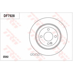 Тормозной диск (TRW/Lucas) DF7928