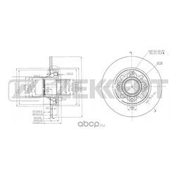 Диск.торм.зад Citroen C4 II 11- Peugeot 308 07- (Zekkert) BS5025