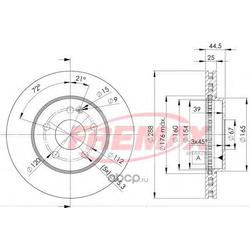 Тормозной диск (FREMAX) BD0117