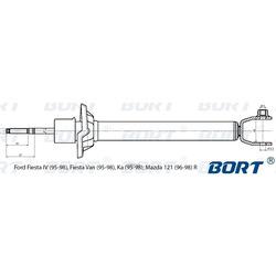 Амортизатор газомасляный задний (BORT) G41138005