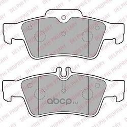 Комплект тормозных колодок, дисковый тормоз (Delphi) LP1868