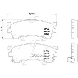 Колодки тормозные дисковые TEXTAR (Textar) 2384504