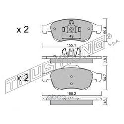 Комплект тормозных колодок, дисковый тормоз (Trusting) 8330