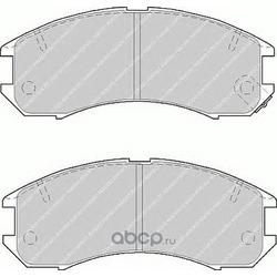 Комплект тормозных колодок, дисковый тормоз (Ferodo) FDB576