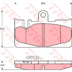 Комплект тормозных колодок, дисковый тормоз (TRW/Lucas) GDB3323