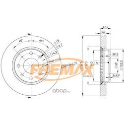 Тормозной диск (FREMAX) BD5002