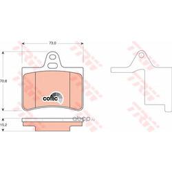 """Колодки тормозные дисковые, комплект """"COTEC (TRW/Lucas) GDB1450"""