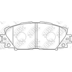 Колодки тормозные дисковые (NiBK) PN1508
