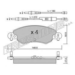 Комплект тормозных колодок, дисковый тормоз (Trusting) 3390