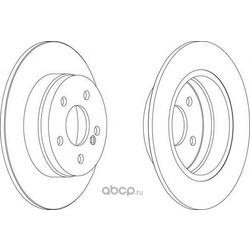 Тормозной диск (Ferodo) DDF1689