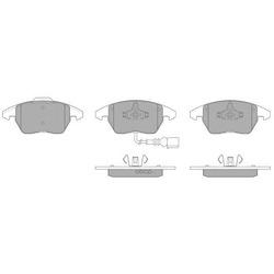 Комплект тормозных колодок, дисковый тормоз (FREMAX) FBP1351