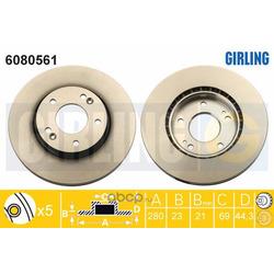 Тормозной диск (Girling) 6080561