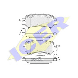Комплект тормозных колодок, дисковый тормоз (Icer) 182056