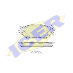 Комплект тормозных колодок, дисковый тормоз (Icer) 181750