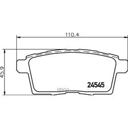 Комплект тормозных колодок, дисковый тормоз (Hella) 8DB355013261
