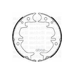 Комплект тормозных колодок, стояночная тормозная система (Metelli) 530444