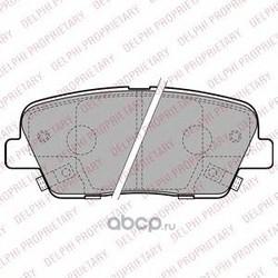 Комплект тормозных колодок, дисковый тормоз (Delphi) LP2202