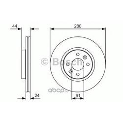 Тормозной диск (Bosch) 0986479R67
