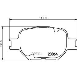 Комплект тормозных колодок, дисковый тормоз (Hella) 8DB355010201