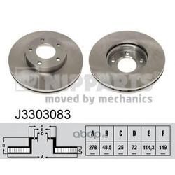 Тормозной диск (Nipparts) J3303083