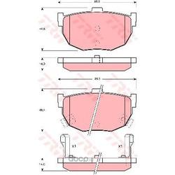 Колодки тормозные задние (TRW/Lucas) GDB1010