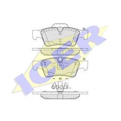 Колодки тормозные дисковые, комплект (Icer) 181770