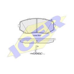 Колодки тормозные дисковые, комплект (Icer) 181962