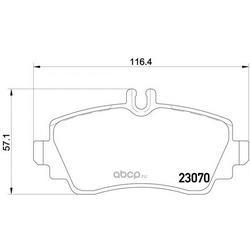 Комплект тормозных колодок, дисковый тормоз (Mintex) MDB2643