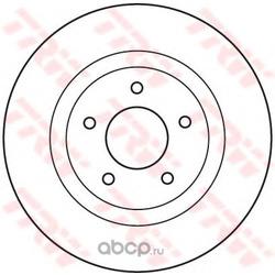 Диск тормозной передн NISSAN X-TRAIL 2.0/2.5/2.2DCI 01> (PATRON) PBD7001
