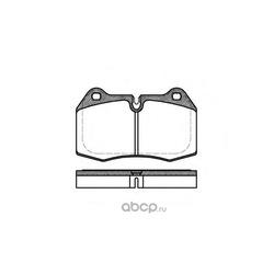 Комплект тормозных колодок, дисковый тормоз (Remsa) 044100