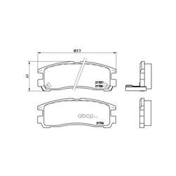 Колодки тормозные дисковые задние, комплект (Brembo) P54012