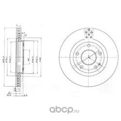 Тормозной диск (Delphi) BG3829