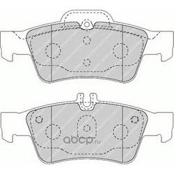 Комплект тормозных колодок, дисковый тормоз (Ferodo) FDB1526