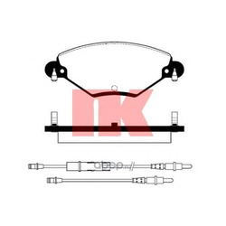 Комплект тормозных колодок, дисковый тормоз (Nk) 221944