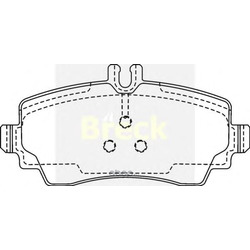 Комплект тормозных колодок, дисковый тормоз (BRECK) 230700070120