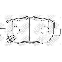 Колодки тормозные дисковые (NiBK) PN8512