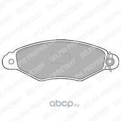 Комплект тормозных колодок, дисковый тормоз (Delphi) LP1519