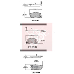Дисковые тормозные колодки (Friction Master) ELT540