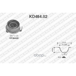 Комплект ремня ГРМ (NTN-SNR) KD48402