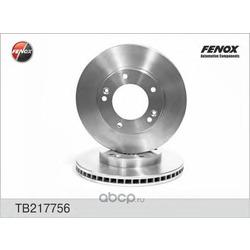 Диск тормозной передний вентилируемый (FENOX) TB217756