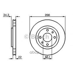 Диск тормозной вентилируемый (Bosch) 0986478618