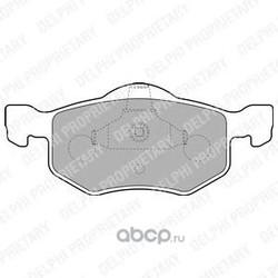 Комплект тормозных колодок, дисковый тормоз (Delphi) LP1900