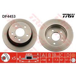 Диск тормозной (TRW/Lucas) DF4453