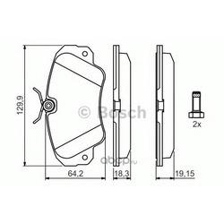 Комплект тормозных колодок, дисковый тормоз (Bosch) 0986460939