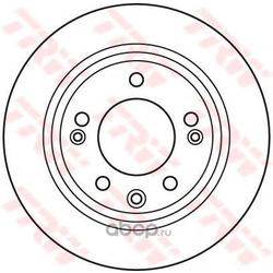 Тормозной диск (TRW/Lucas) DF6123