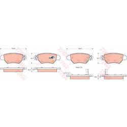 Комплект тормозных колодок, дисковый тормоз (TRW/Lucas) GDB1352