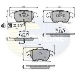 Комплект тормозных колодок, дисковый тормоз (Comline) CBP11224