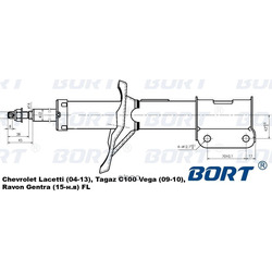 Амортизатор (BORT) G22045103L